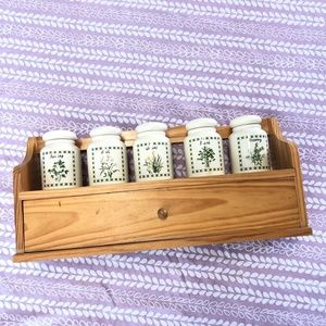 Other - Wooden Rustic Spice Rack